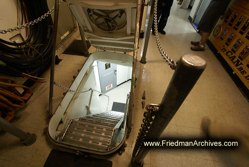 Aircraft Carrier Stairway Through The Hatch