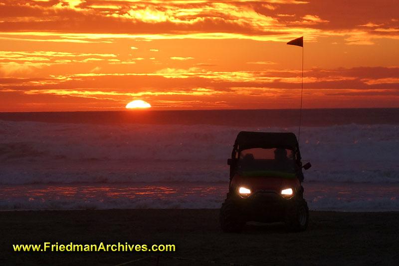 Pismo Beach Jeep Sunset