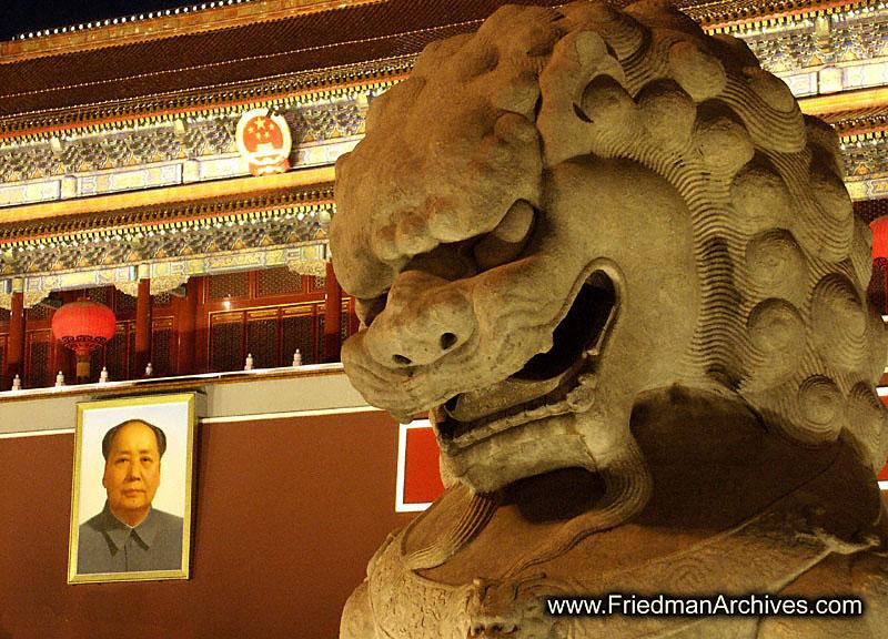 Mr. Mao and Statue