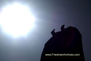 2 Climbers and Sun
