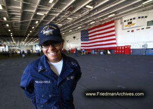 Female Sailor Portrait Below Deck