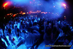Blue Crowd Shot