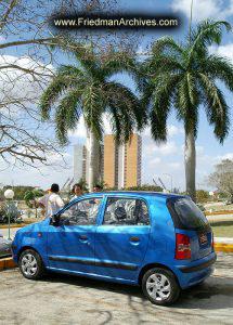 Blue Puny Car