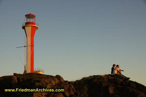 Cape Forchu and Tourists