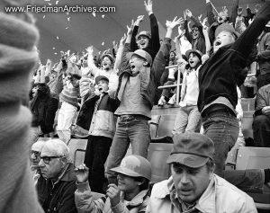 Cheering at Dodger's Stadium