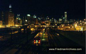 Chicago Skyline w RR