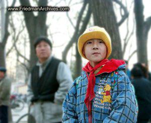 Chinese Boy - Yellow Hat Pooh jacket