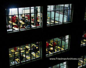 Classrooms at night