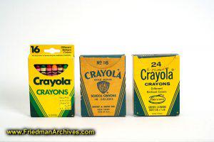 Crayola Crayons through the years
