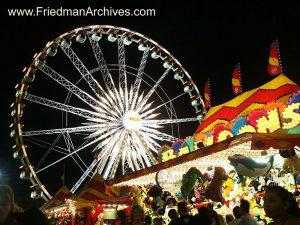 Ferris Wheel - Black Sky