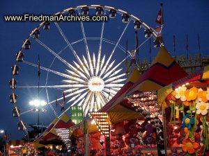Ferris Wheel - Blue Sky