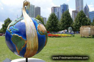 Globe in Public Park