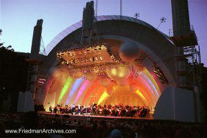 Hollywood Bowl Yellow Orange Lights