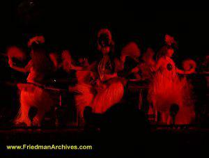 Hula Dancers (Red)