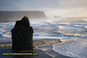 Kirkjufjara Rock Formations