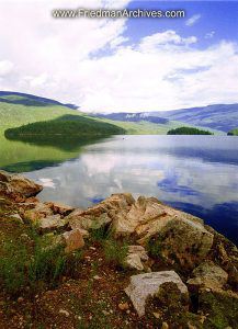 Lake Edge - Rocks and Sky