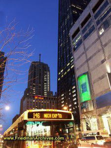 Michigan Street at Night