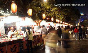 Mile long food vendors