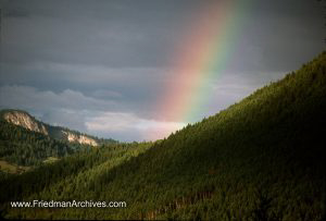 Mountain and Rainbow