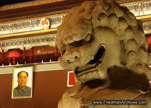 Mr Mao and Statue