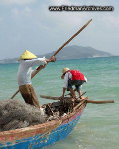 Navigating Fishing Boat