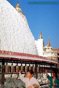 Nepal Images - Prayer Wheels