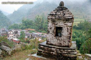 Nepal Images - Stone Monument
