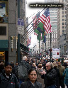 Busy NY street