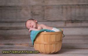 Newborn in a Basket