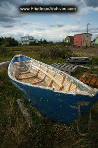 Boat in Storage in Field