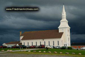 Church with Dark Sky