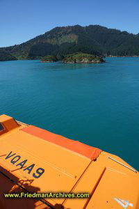 Orange Lifeboat on Ferry