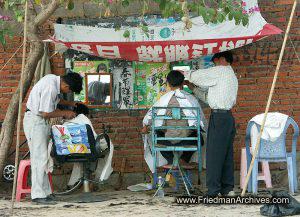 Outdoor Haircut
