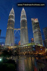Petronas Towers Kuala Lumpor Postcard Shot