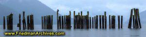Pier Poles at Dawn