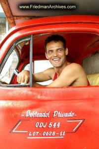 Red Truck Driver Portrait