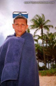 Seth w Towel and Snorkel Mask