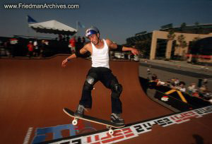 Skateboard Images - Grinding White Tanktop