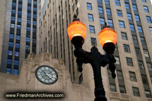 Streetlight and Stock Exchange