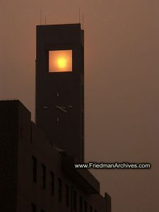 Sun in Clock Tower