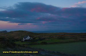 Sunset Irish Landscape