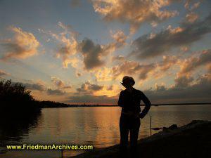 Sunset with Liz Hat