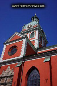 Sweden Red Clock Tower