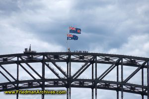 Top of the Sydney Harbor Bridge