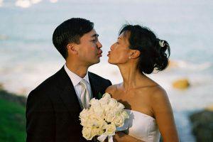 Wedding Sampler Almost Kissing