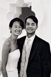 Wedding Sampler B and W Portrait