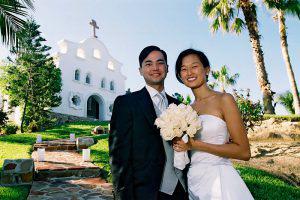 Wedding Sampler Bride, Groom, and Chapel