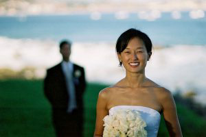 Wedding Sampler Bride with the Groom in Background