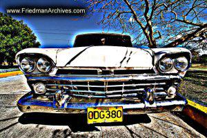 White Car Horizontal Posterized