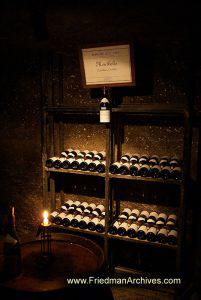 Wine Bottles On Display